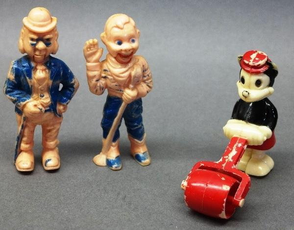 Lot of 3 Celluloid Walker & Talker Toys-Howdy Doody & Minnie Mouse