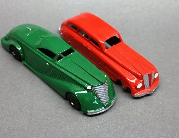 Lot of 2 Toy Cars-Manoil 704 Coupe & Tootsie Sedan