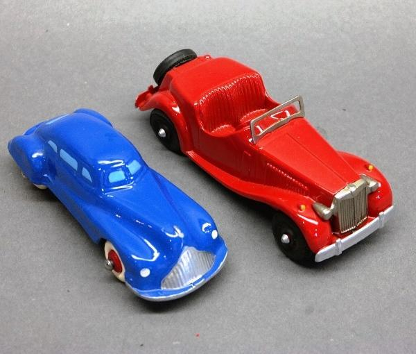 Lot of 2-Hubley MG & Unmarked Heavy Future Car