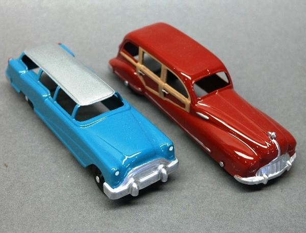 Lot of 2 Tootsie Toy Station Wagons