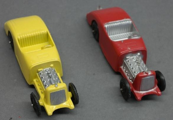 Lot of 2 Tootsie Toy Hot Rod Cars