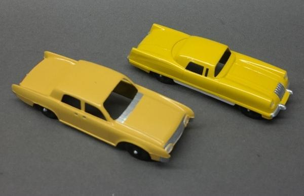 Lot of 2 Yellow Toy Cars-Hubley & Tootsie Toy Cars