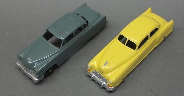 Lot of 2 Tootsie Toy Sedans w/wings,