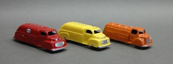 Lot of 3 Restored Tootsie Toy Tanker Trucks