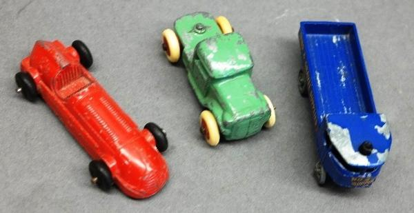 Lot of 3 Small Cars-Slush Semi Cab, Racer, Blue Euro Deliver