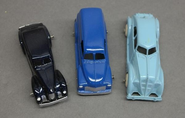 Lot of 3 Small Cars-Hubley & Tootsie