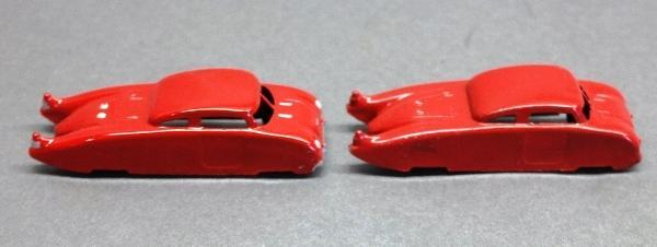 Lot of 3 Midge Toy Futuristic Cars-1 Restored, I Unrestored