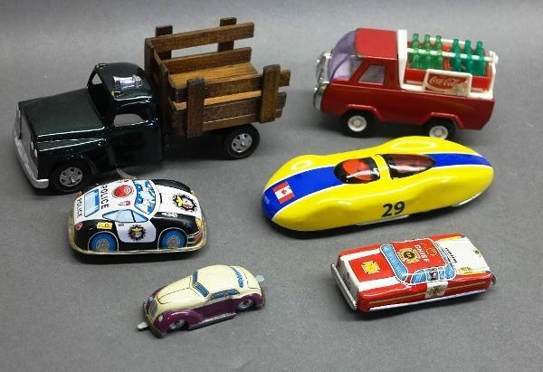 Lot of Various Vehicles- Coca Cola, Hubley, Schylling, Wind Ups and more