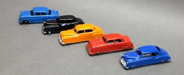 Lot of 5 Sedans- Tootsie Toy- Some Restored