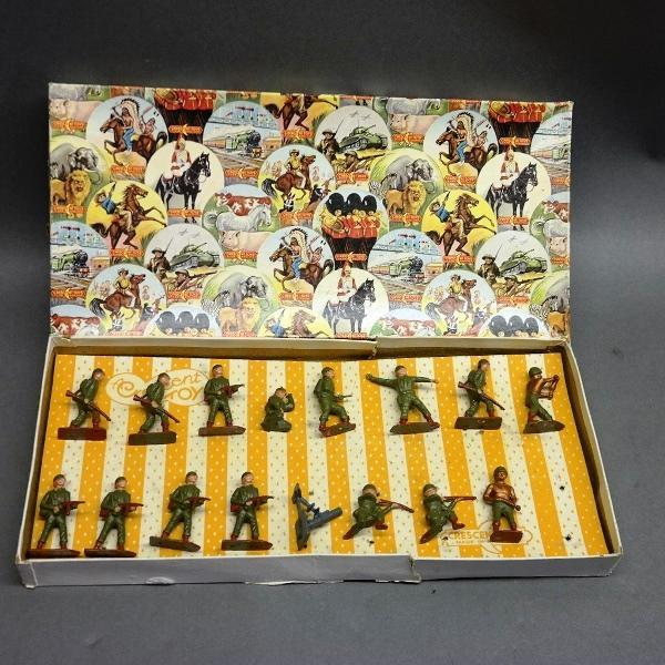 Box of Crescent Toys Soldiers- Made in England- In Original box