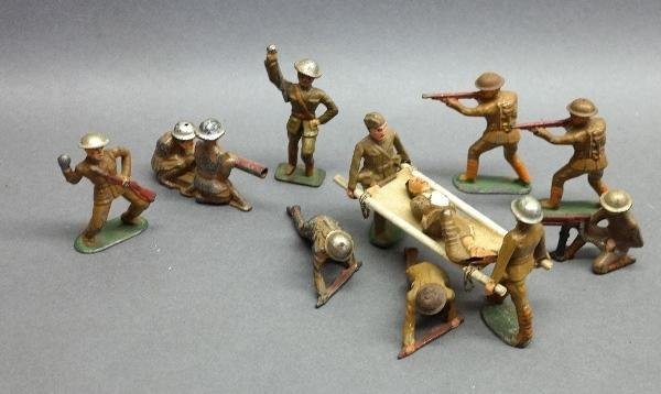 Lot of Various Military  Cast Metal Figures- Barclay, Manoil and others