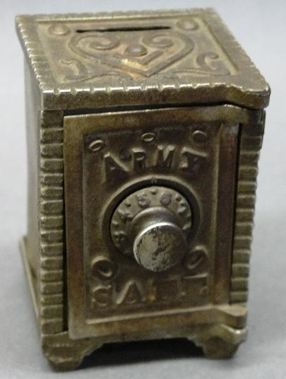 Army Safe Cast Metal Combination Coin Bank