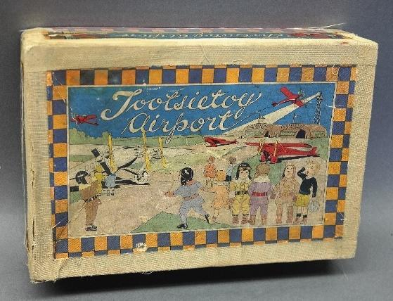 Tootsietoy Airport Box Only with Lithographed Top