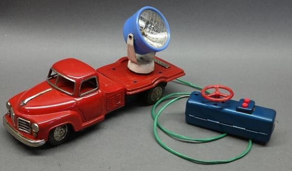 1950s Battery Operated Studebaker Searchlight Truck- Tin Litho