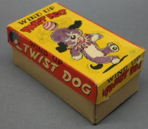 1960s Wind Up Twist Dog by TN Toys Japan in Original Box