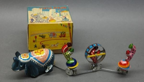 Mechanical Wind Up Circus Parade by TPS in Original Box