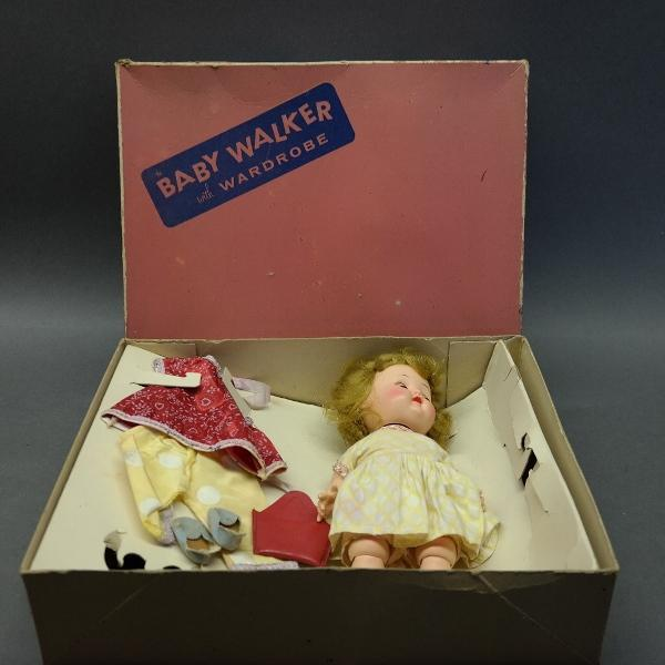 1950s Baby Walker Sleeping Eye Doll w/Box
