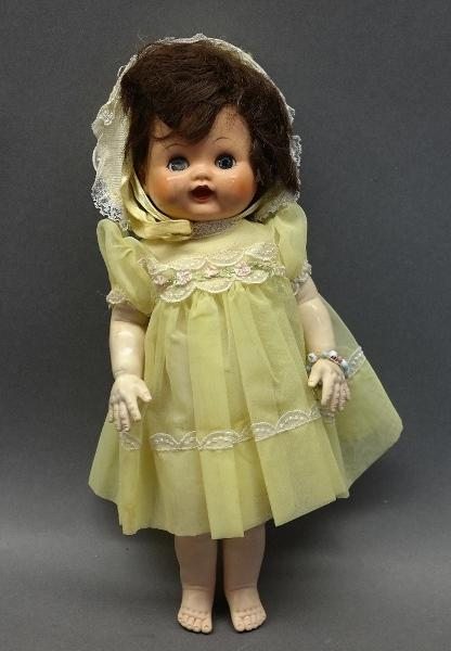 1950s Soft Body Sleeping Eye Doll w/Original Dress