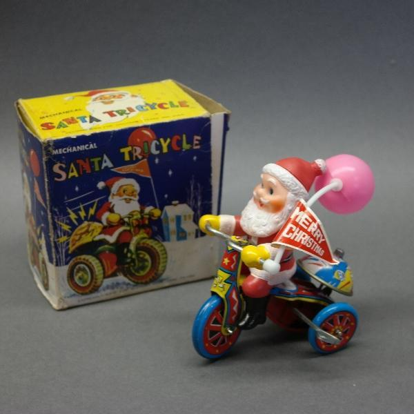 McCrory Wind-Up Santa on Tricycle w/Box