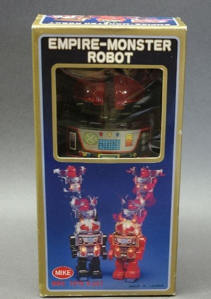 Scarce EMPIRE-MONSTER ROBOT w/Box-Mike Toys K-207