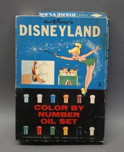 Disneyland Color By Numbers Oil Painting Set