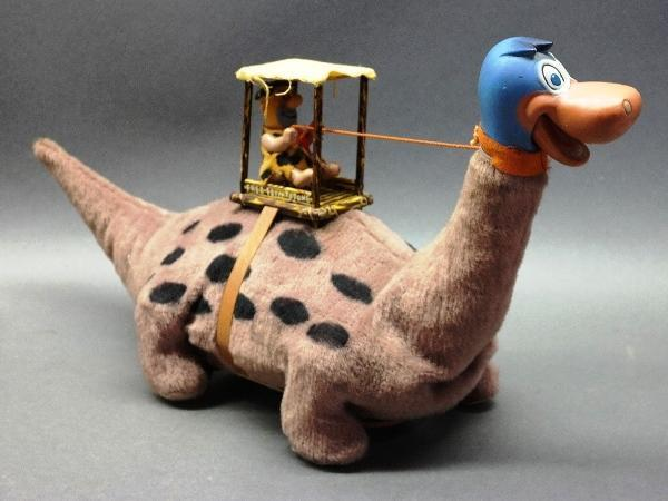 1960s MARX Fred Flintstone on Dinosaur Battery Op Toy