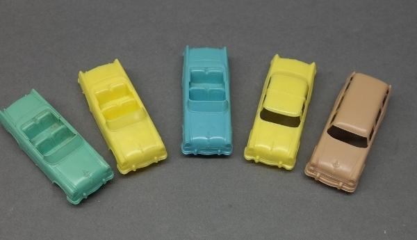 1955 Post Cereals F&F Five Piece Plastic Car Set w/Box