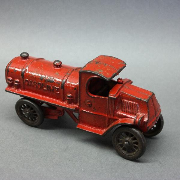 1930s CHAMPION Cast Iron Mack Gasoline Tanker Truck-7