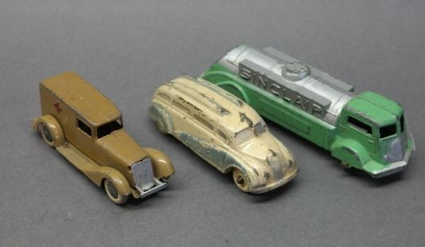Lot of 3 Toy Trucks/Bus-Tootsie & Auburn