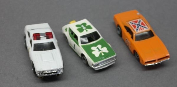 Lot of Slot Cars-Shamrock Gremlin/General Lee & Police Car