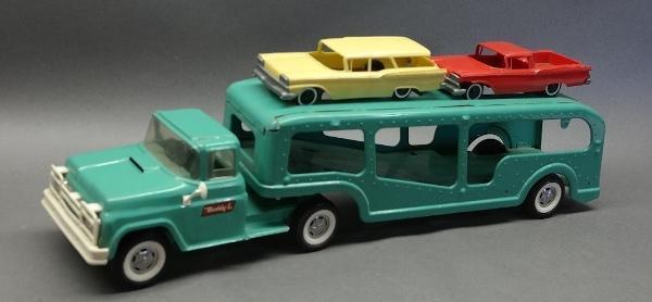 Buddy L Car Hauler with 2 Cars