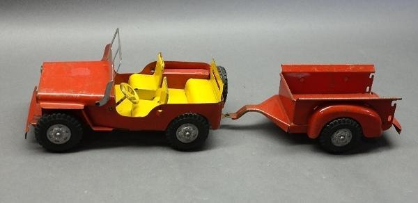 Lumar Willys Jeep with Trailer- Original