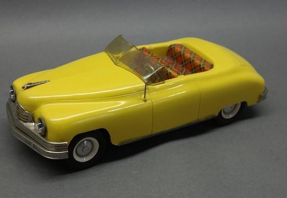 Conway Co. Packard Convertible Headlight Version Battery Operated Wind Up Car