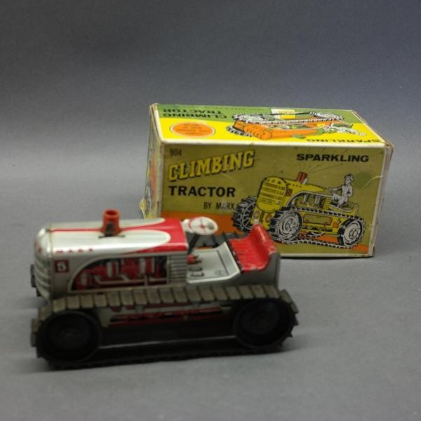 Climbing Tractor 904 with Sparkling Exhaust Stack - by Marx in Original Box