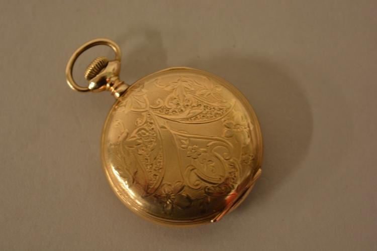 antique elgin gold filled pocket