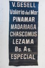 Argentine Street Car Sign