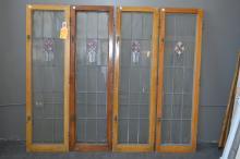 Lot of Four American Prairie School Windows