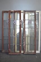 Lot of Five American Prairie School Windows