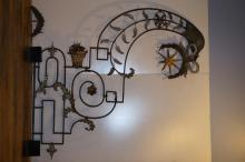 Large Decorative Wrought Iron Trade Sign
