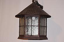 Vintage Hammered Metal Lantern