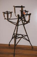 Argentine Four Arm Wrought Iron Plant Stand