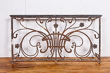 Antique Iron Railing Section