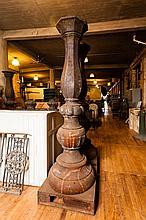 Pair of Antique Cast Iron Lamp Posts