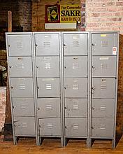 Vintage Set of American Lockers