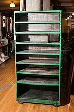 American Industrial Two-Sided Metal Shelving Unit