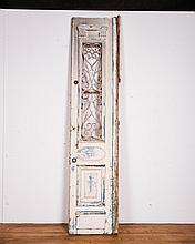 Antique Wooden Door With Metal Panel