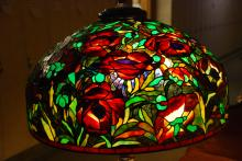 Bogenrief Stained Glass Poppy Lamp
