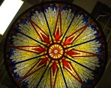 Bogenrief Stained Glass Decorative Dome