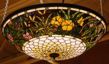 Bogenrief Stained Glass Chandelier