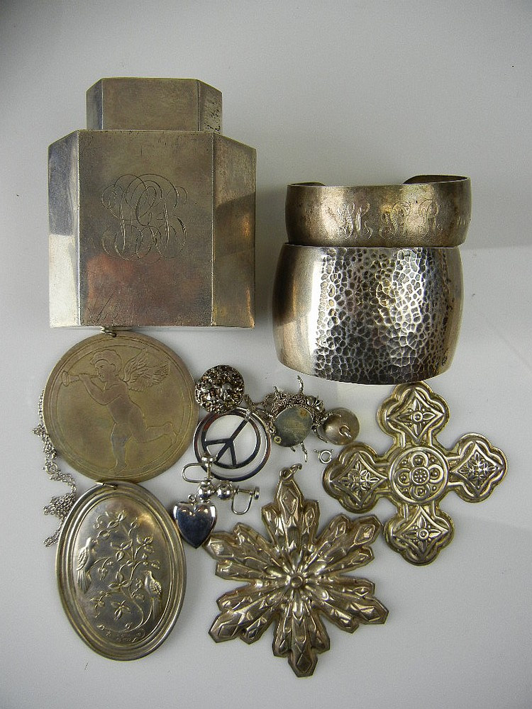 Sterling Silver Jewelry and Misc. Lot, 11.09oz